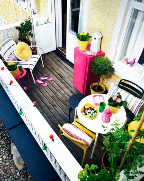 Ideas de decoración de balcones.