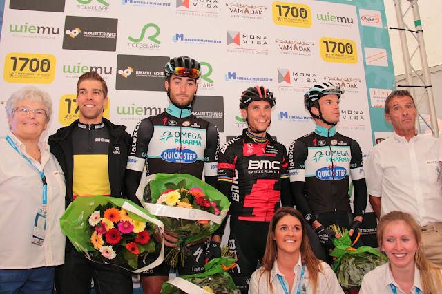 Jens Debusschere, Guillaume Van Keirsbulck, Philippe Gilbert en Iljo Keisse