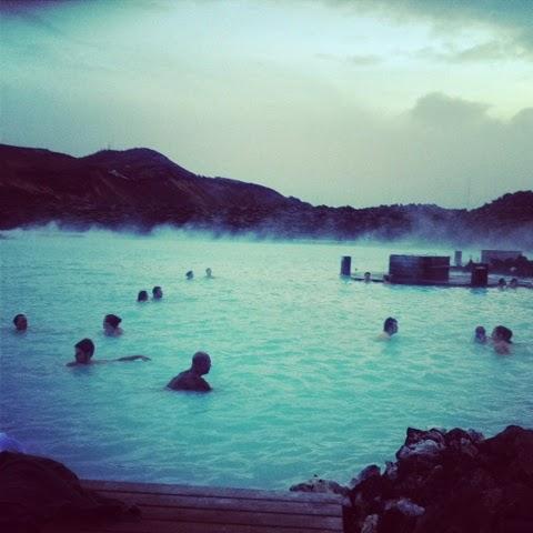 Swiming in the blue lagoon