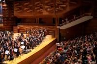 Luego de cada interpretación, el público se levantó aplaudir al maestro Inocente Carreño por haberles permitido disfrutar de su obra