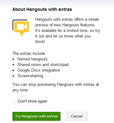 G+ Hangouts with extras