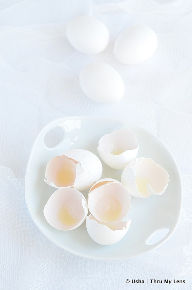 Almost White on White, Eggs, Cooking with Eggs