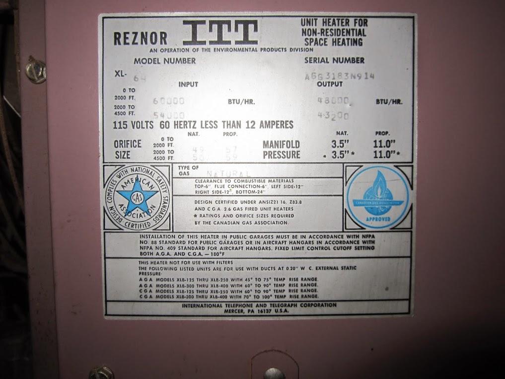 Old Reznor Heater