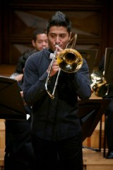 Branimir León resaltó con la ejecución del Concierto para Trombón alto y Orquesta, de Georg Christoph Wagenseil