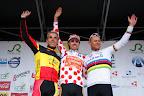 Sanchez, Gilbert en Hushovd op het podium van het 2e natourcriterium Roeselare