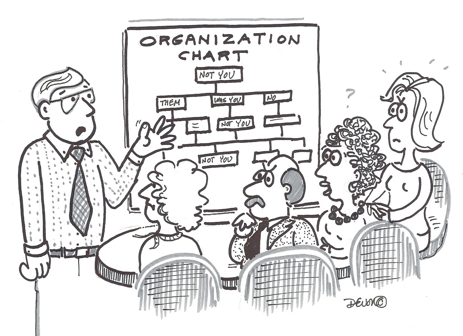 BabyBummers™ Cartoon: Off the Organization Chart...