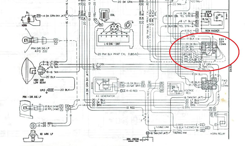 1967 gto ignition switch wiring diagram