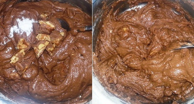 Snickers Fudge Brownies Recipe | Eggless chocolate brownies | Delicious baking recipes written by Kavitha Ramaswamy of Foodomania.com