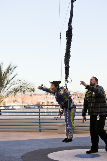 Jumping off the Stratosphere with SkyJump Las Vegas.