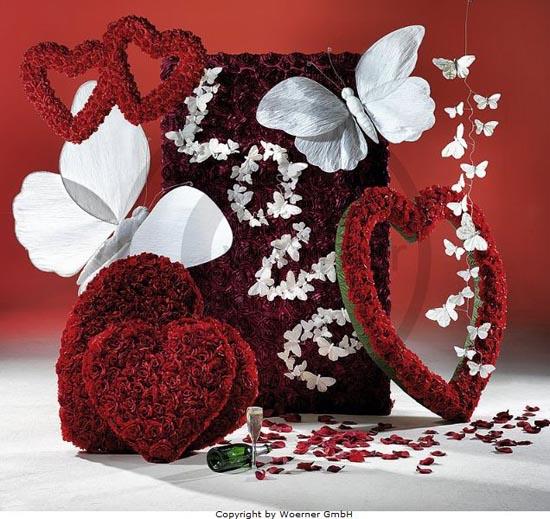 Decoración de San Valentín para tiendas.