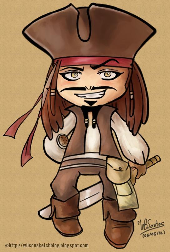 cpt jack sparrow cartoon