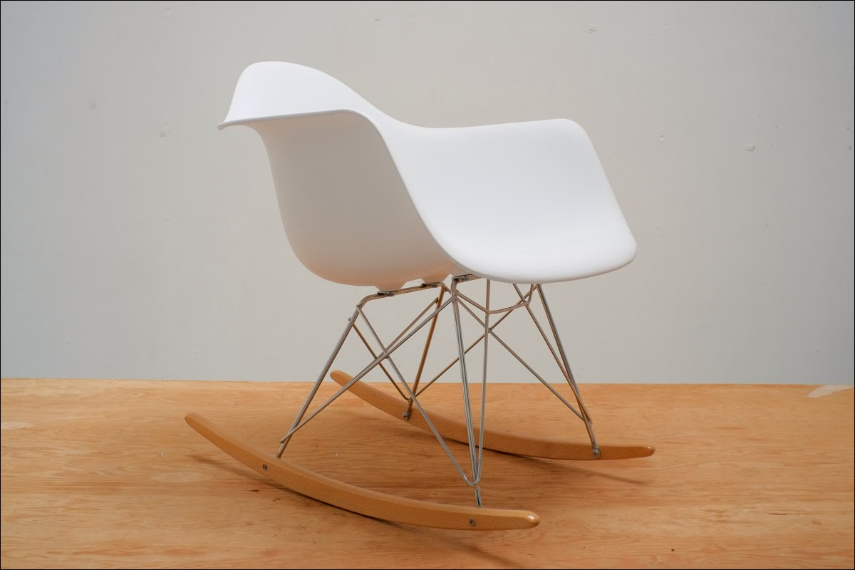 Plastic Rocking Chair Eames Molded Plastic Rocking Chair Reproduction New Ebay