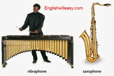 vibraphone, saxophone
