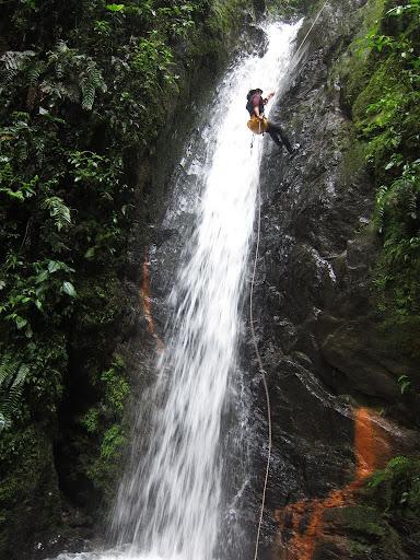 canyoning rio blanco, Ecuador