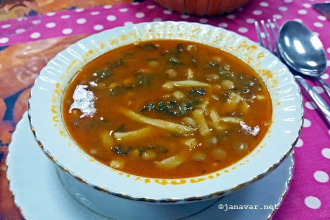 Eriste aşi soup, Hanimeli Kars Mutfağı, Kars, Turkey