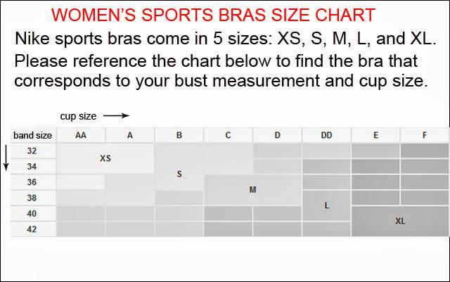 new style 52fd4 d423c Nike Sports Bra Sizing