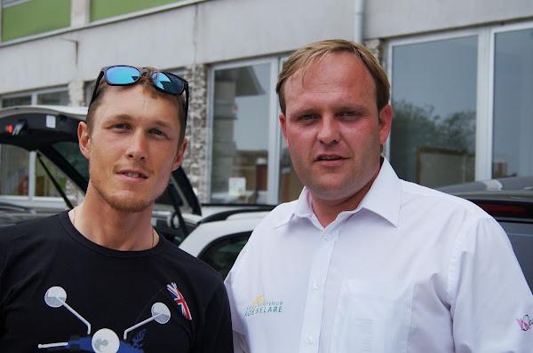 Matteo Trentin en Bjorn Gevaert