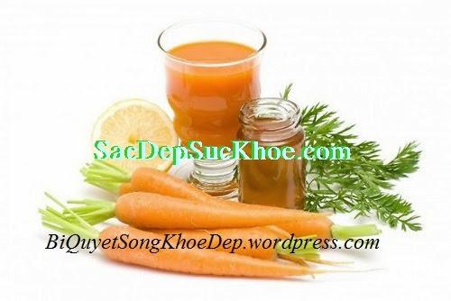 Chăm sóc da từ cà rốt tại nhà