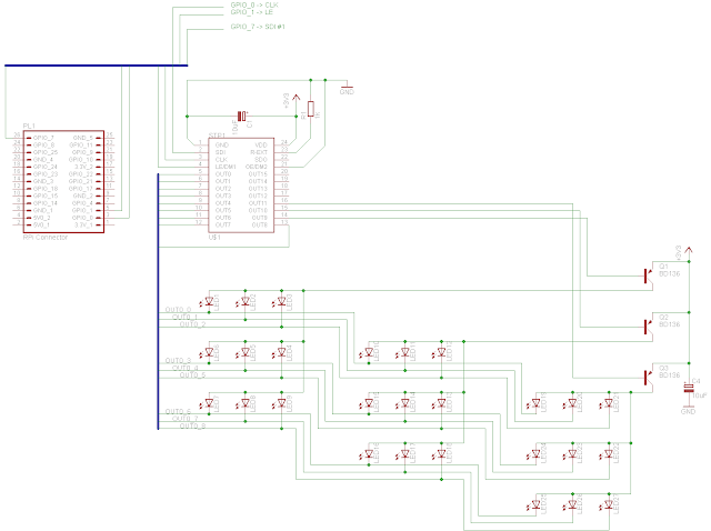 BPI inside: LED Cube: RPi GPIO test and 3x3x3 concept circuit