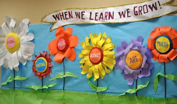 Flower Bulletin Board Ideas