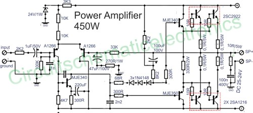 small resolution of to the driver circuit using pnp transistor mje350 and mje350 for the final amplifier