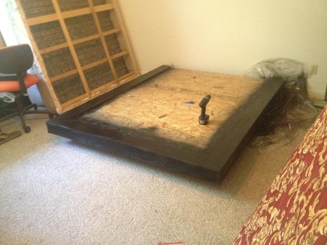 DIY Furniture Blog DIY Floating Bed Frame