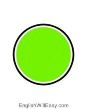 کارت تصویر برای کودکان- شکل- دایره
