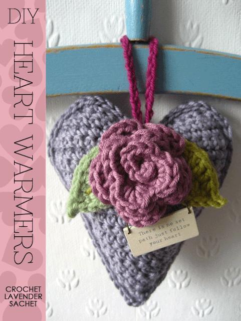 Valentine Crochet Sachet