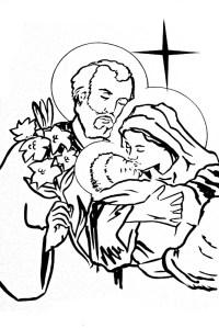 Dibujos Para Colorear De La Sagrada Familia De Nazaret Dibujos