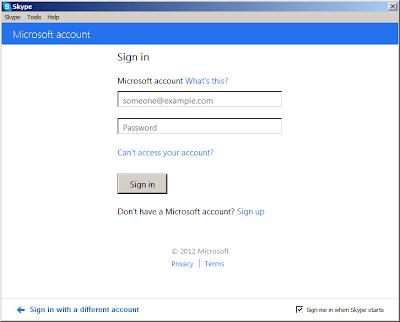 Merge WLM/MSN Messenger with Skype: Step 2