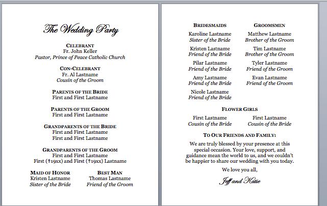 wedding church program template - Tier.brianhenry.co