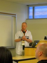Brad Williams speaking on WordPress security at WordCamp NYC