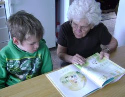 Li'l Man reads All About Grandmas with Charlotte the Great