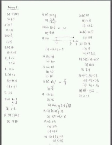 Mr Ong's Exam Revision: 2012 O Level E maths paper 1 answers
