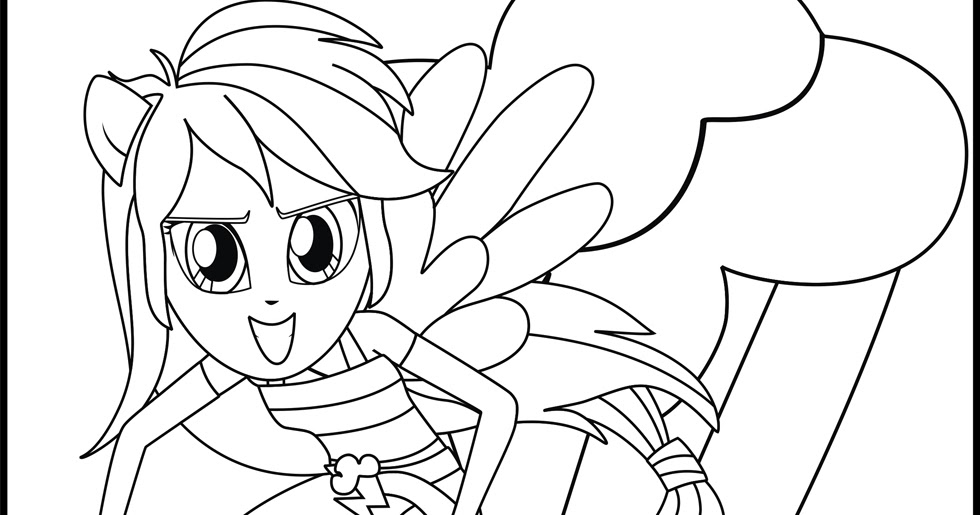 My Little Pony Rainbow Dash Coloring Page