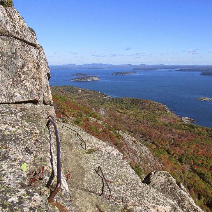 Precipice Trail Acadia National Park (Best Hiking in the US).