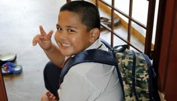 abang koning bersiap untuk pembukaan sekolah 2014