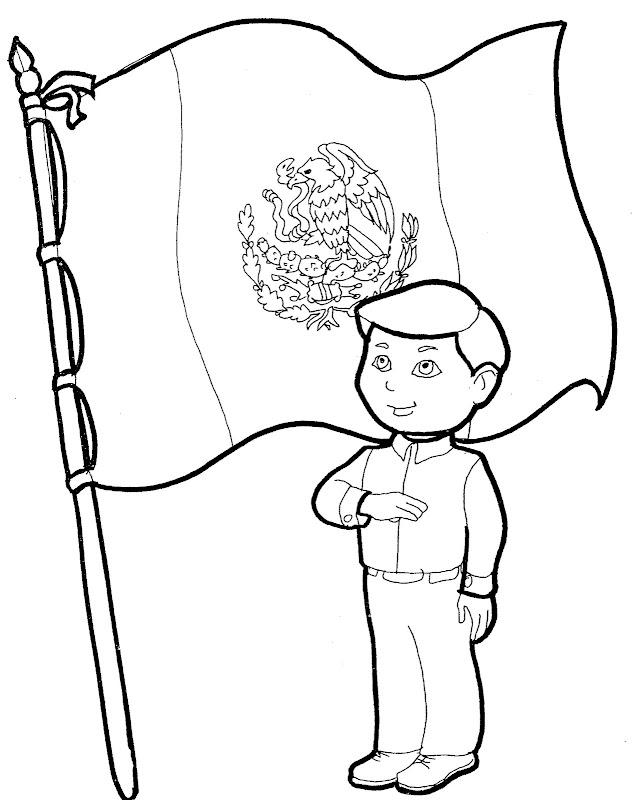 Pinto Dibujos: Dibujos para colorear de la Bandera de México