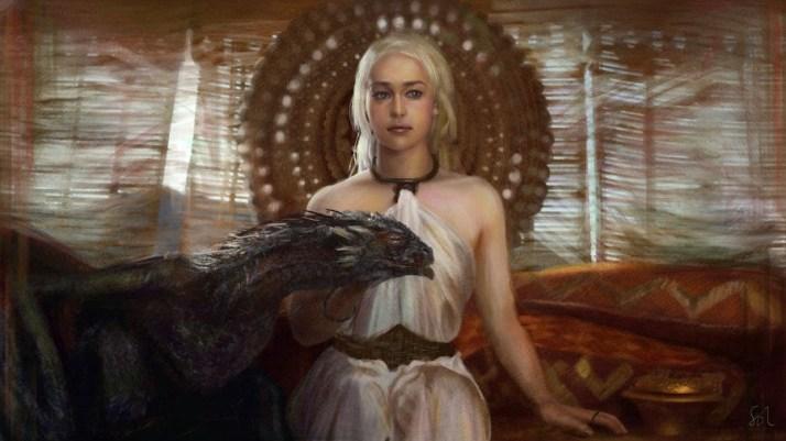 Danerys, madre de los dragones. Cuarta temporada de juego de Tronos