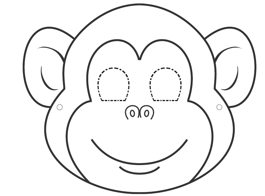 Jungle Printable Coloring Cut Out Coloring Pages