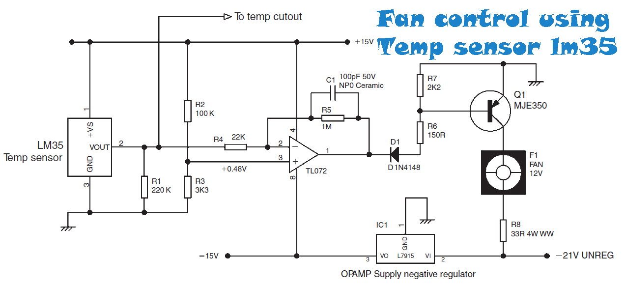 High Temperature Detector Circuit Diagram