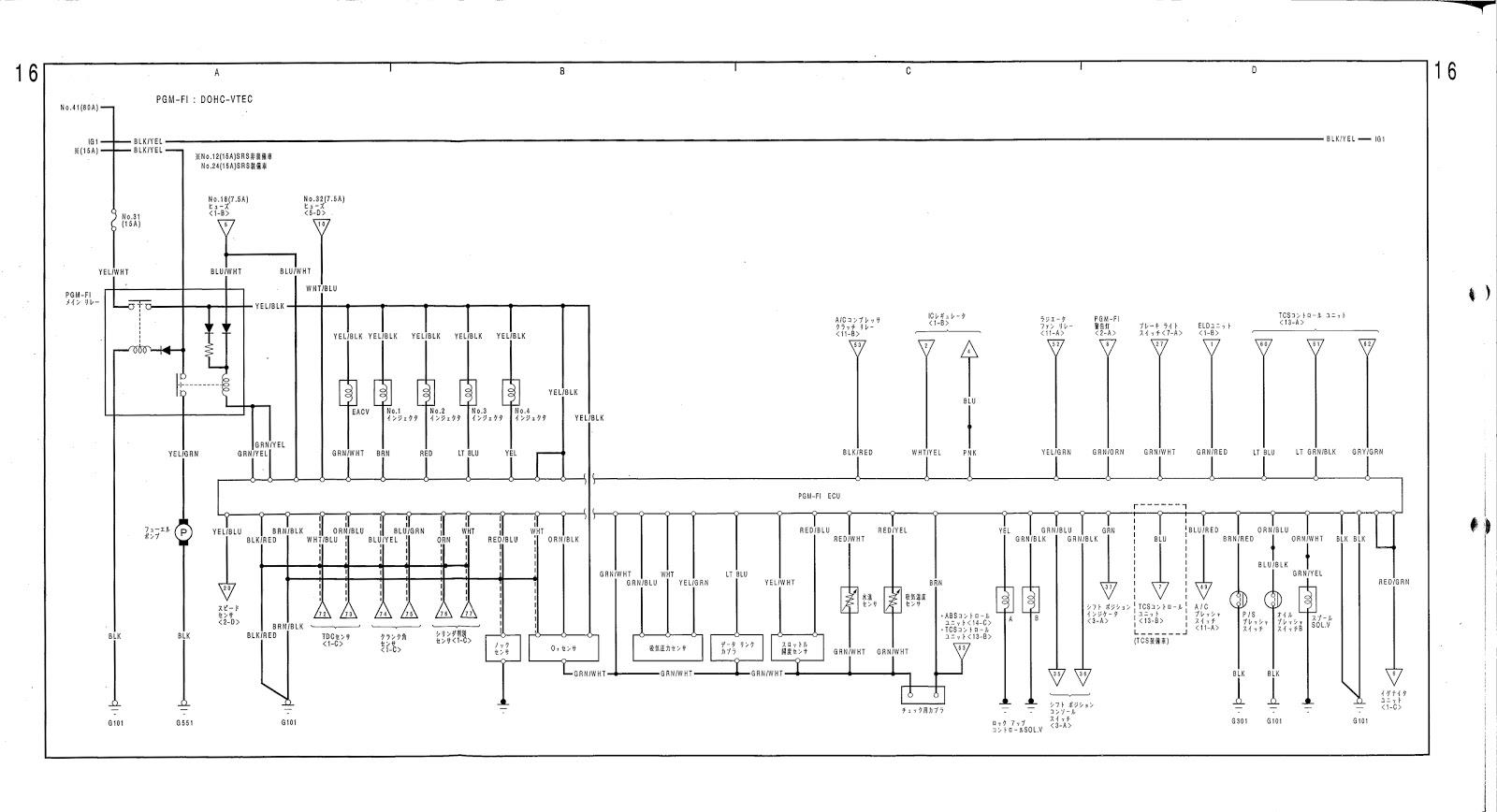 honda obd0 wiring diagram alternator