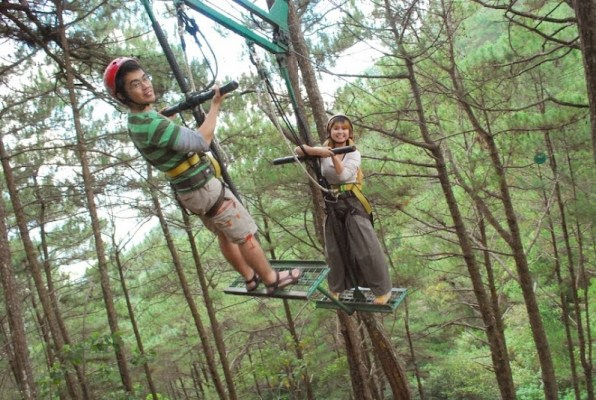 what to do in Baguio city activities destinations treetop adventure silver surfer