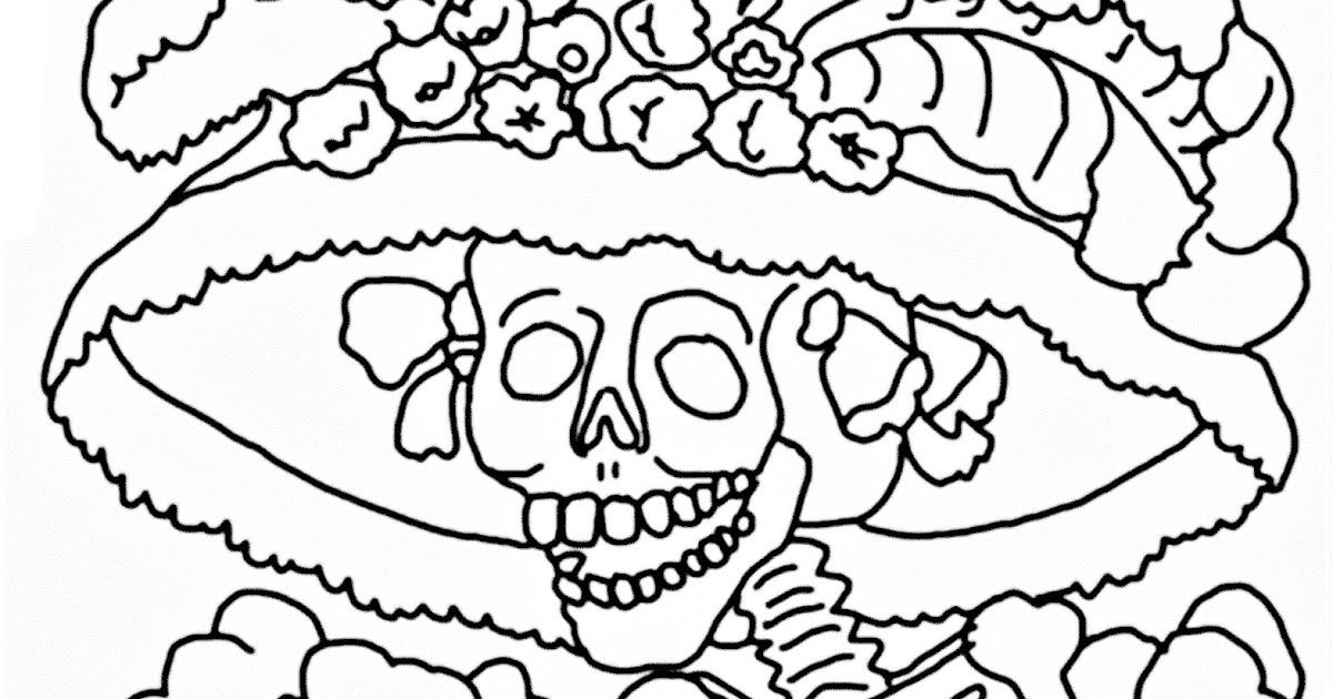 Pinto Dibujos La Catrina Para Colorear Pintar E Imprimir