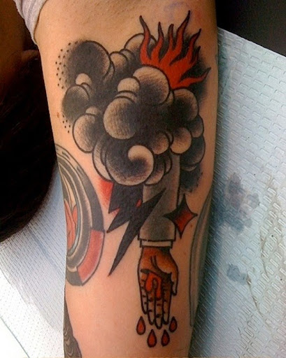 dark black Cloud tattoos
