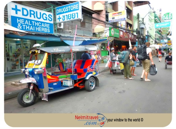 Backpackers in Khaosan Road in Bangkok; Khaosan Road Street Vendors; Khaosan Road; Bangkok Khaosan Road; Street Vendors Bangkok; Food Markets in Khaosan Road
