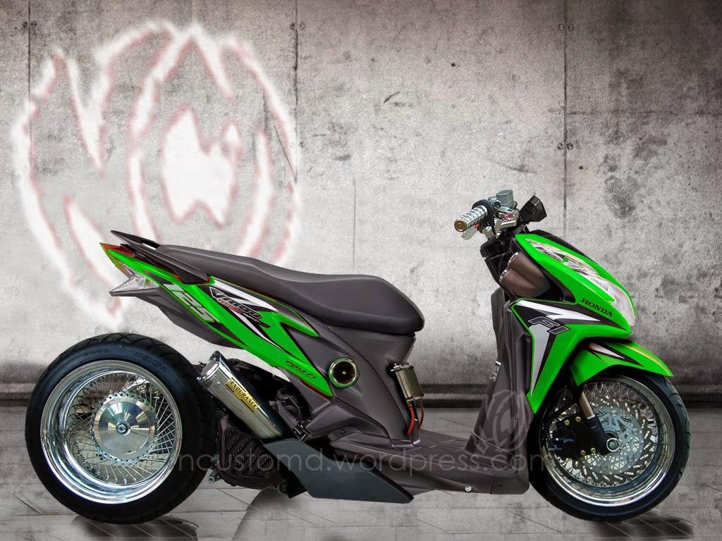 Modifikasi Honda Vario Techno Drag  Thecitycyclist