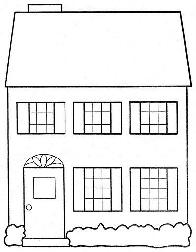Pinto Dibujos: Casa para colorear