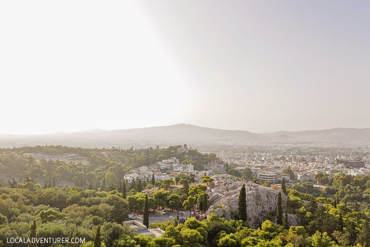 View of Athens from the Acropolis Ancient Greece.