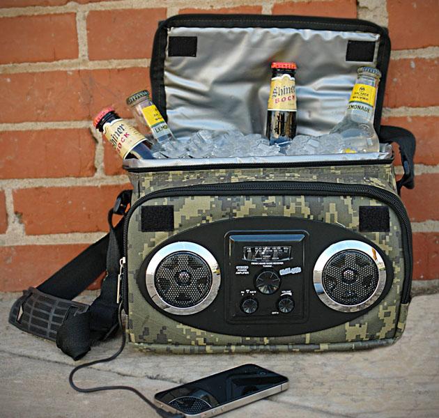*戶外音樂暢飲不設限:結合智慧型手機喇叭播放攜帶式保冷袋! 1